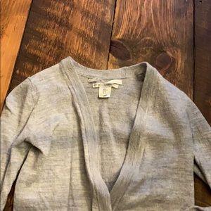 Max studio open cardigan extra fine merino wool